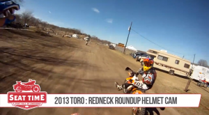 Cecil Parker and Brian Pierce Helmet Camera at Redneck Roundup