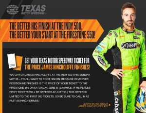 HINCHCLIFFE BECOMES TMS FANS' CHOICE FOR INDY 500