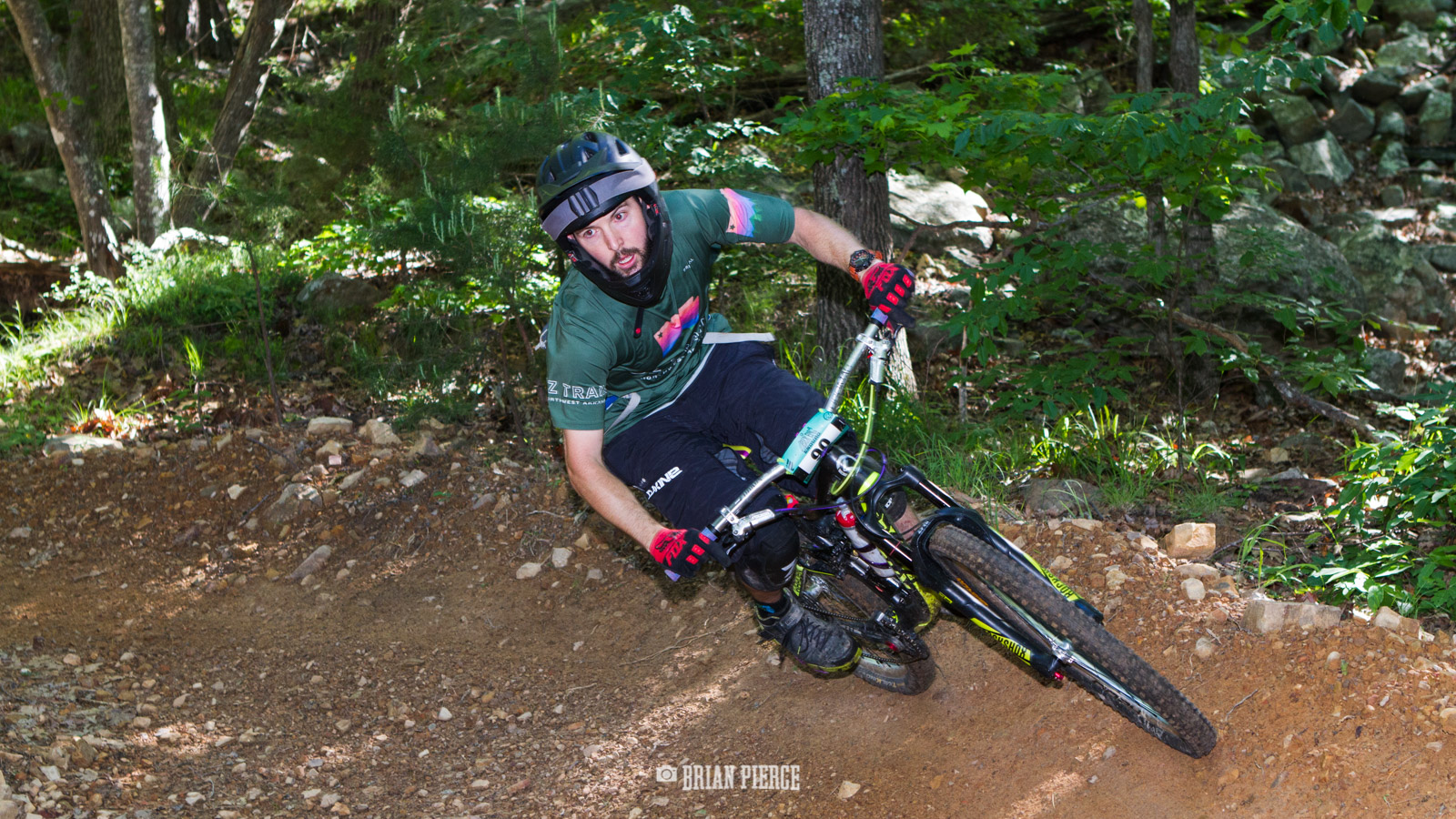 Killer berm in the middle of Party Rock