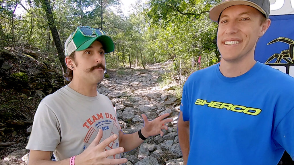 Brian Pierce and Cody Webb discussing the 2020 Revlimitier Extreme Enduro