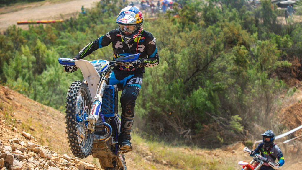 Cody Webb on the start hill at the Revlimiter Extreme Enduro