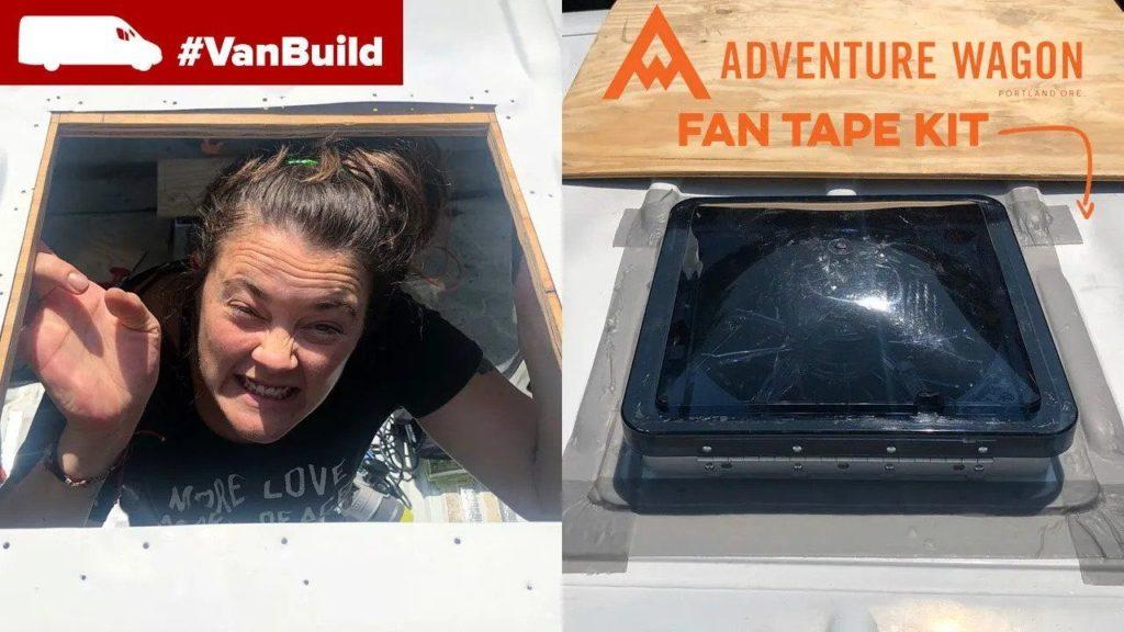 fantastic fan installation on the moto van build