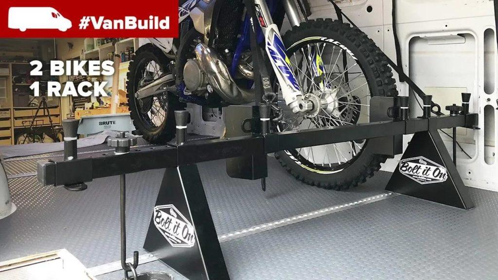 bolt it on moto van rack system