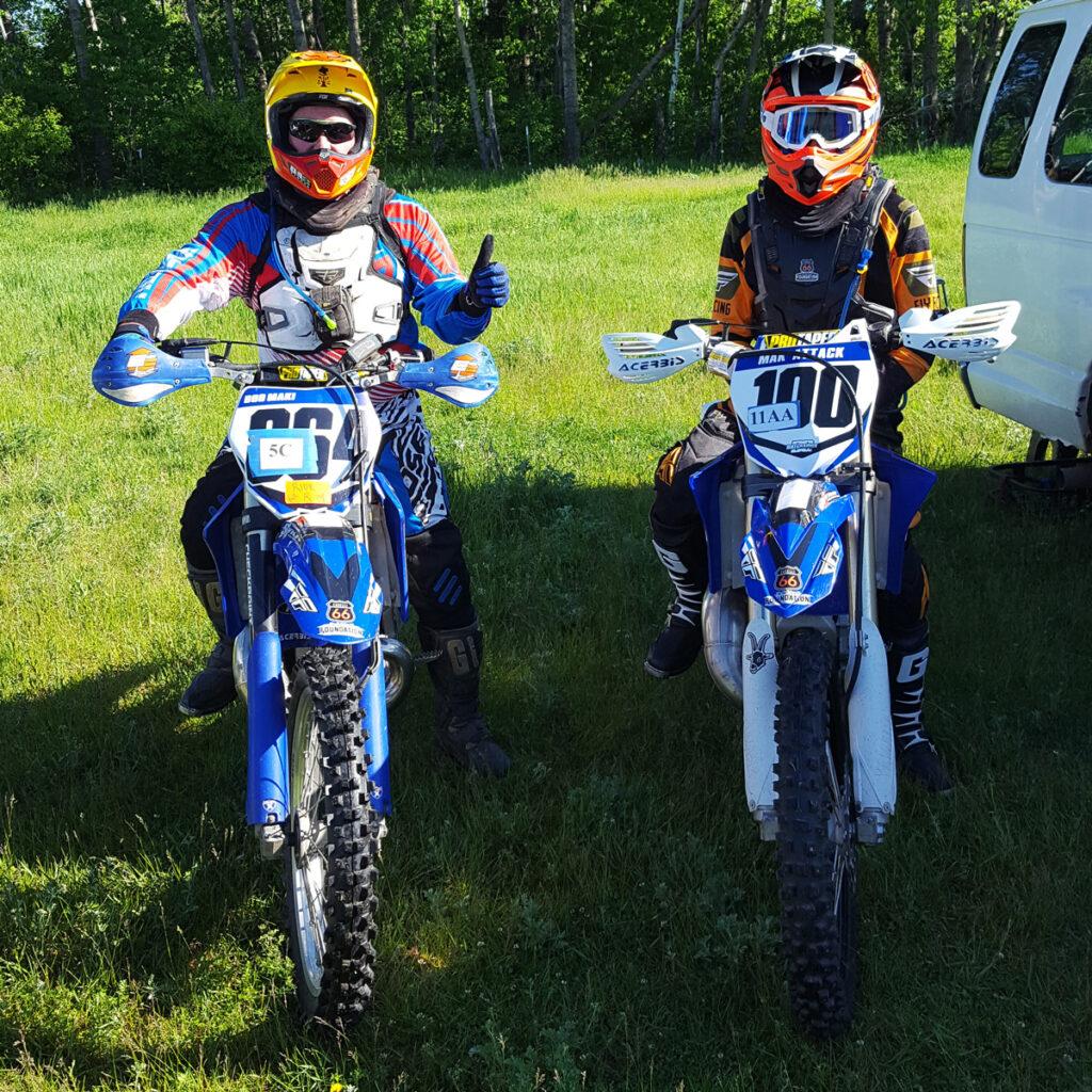 dirt biking friends