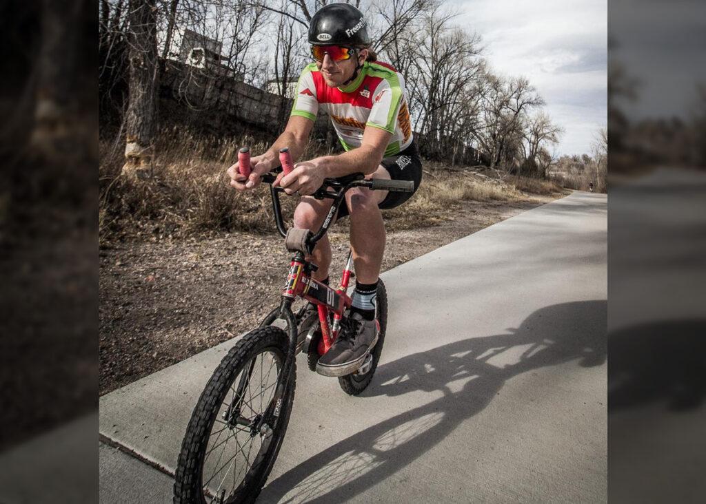 A mockumentary triathlete in training.