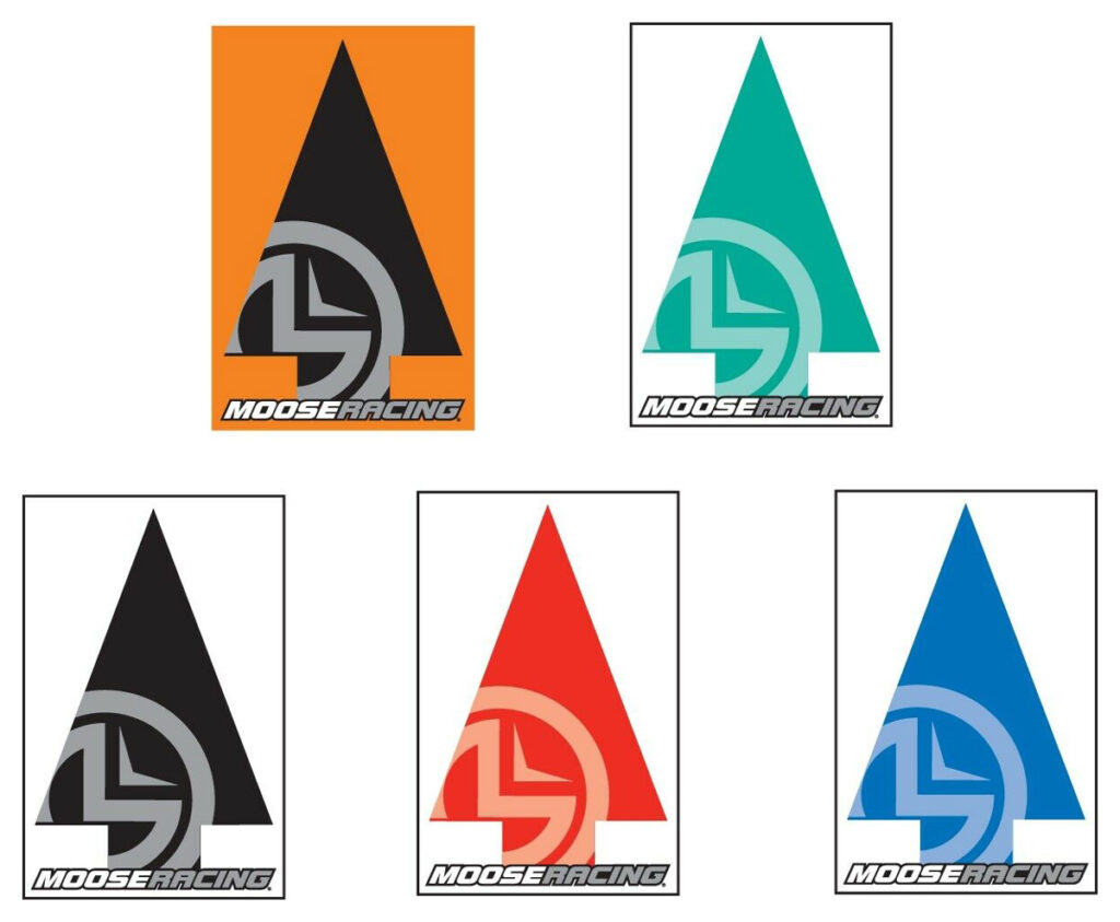 Marking trail arrow options from Moose Racing.