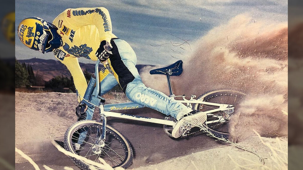 Todd 'The Cowboy' Slavik shredding on his BMX bike,
