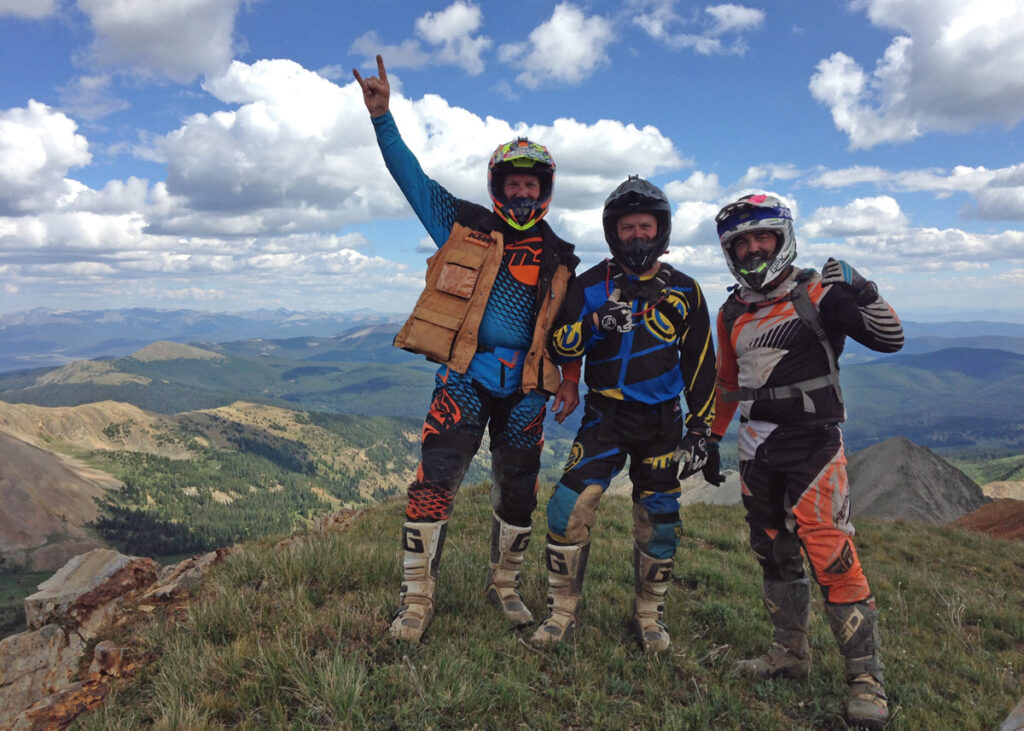 Dirt bikers enjoying the Colorado single track.