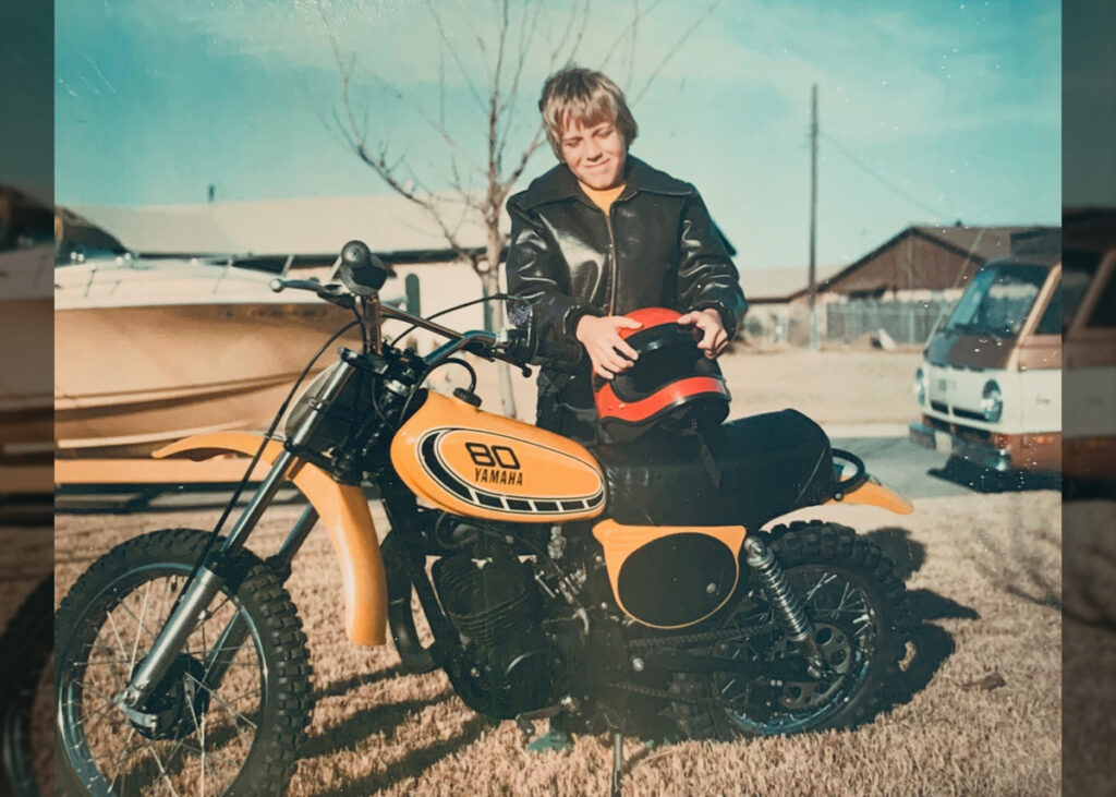 A young Todd Slavik with his Yamaha 80.