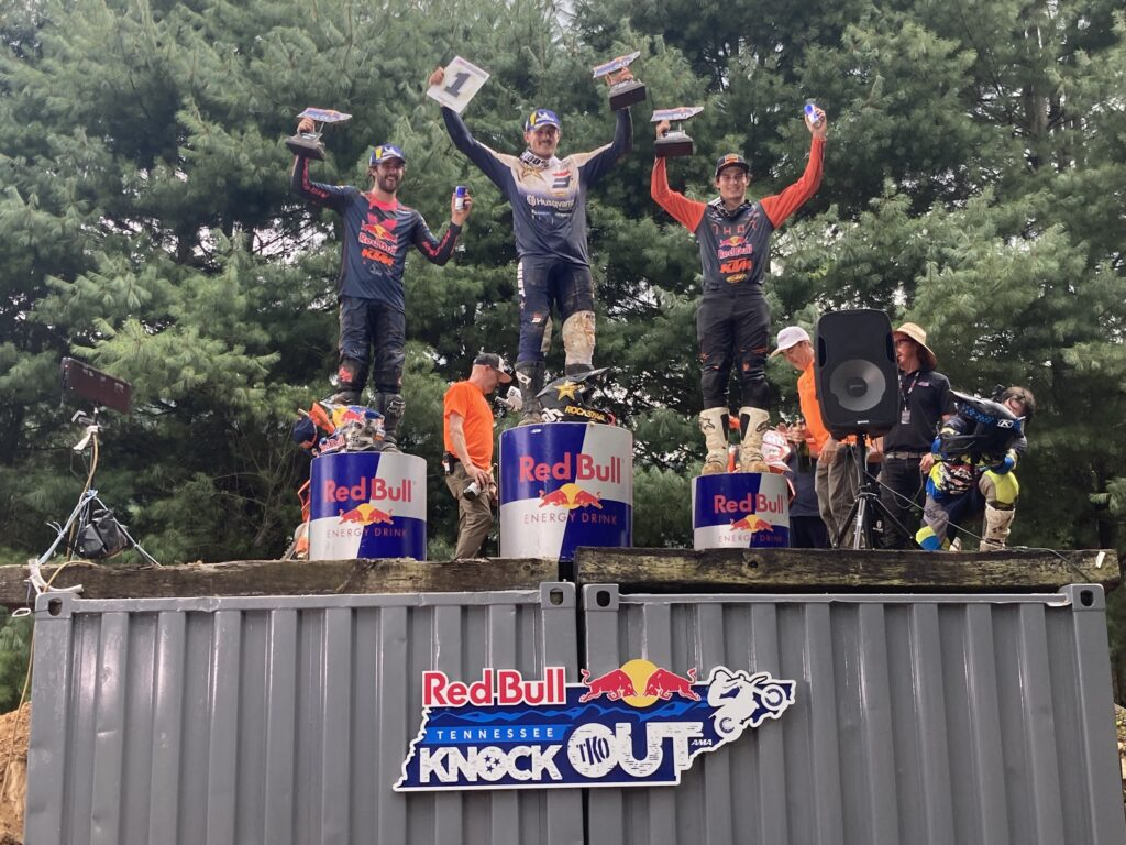 Podium for the 2021 Red Bull TKO Enduro