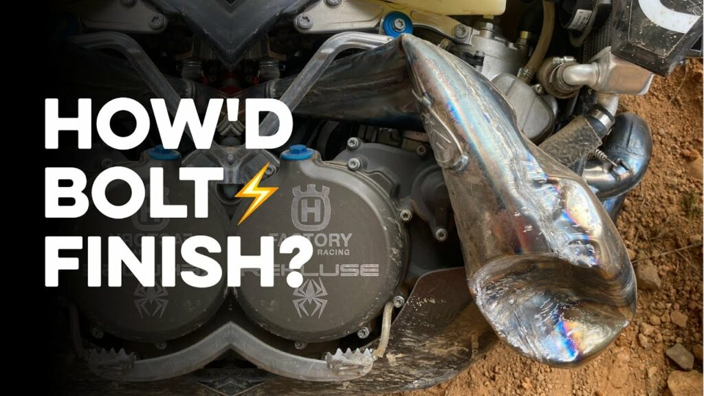 Billy Bolt's smashed FMF Pipe Youtube Thumbnail