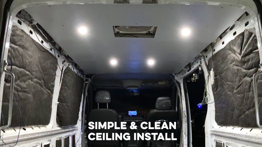 Seat Time Moto Van with Installed Ceiling and LED Lights