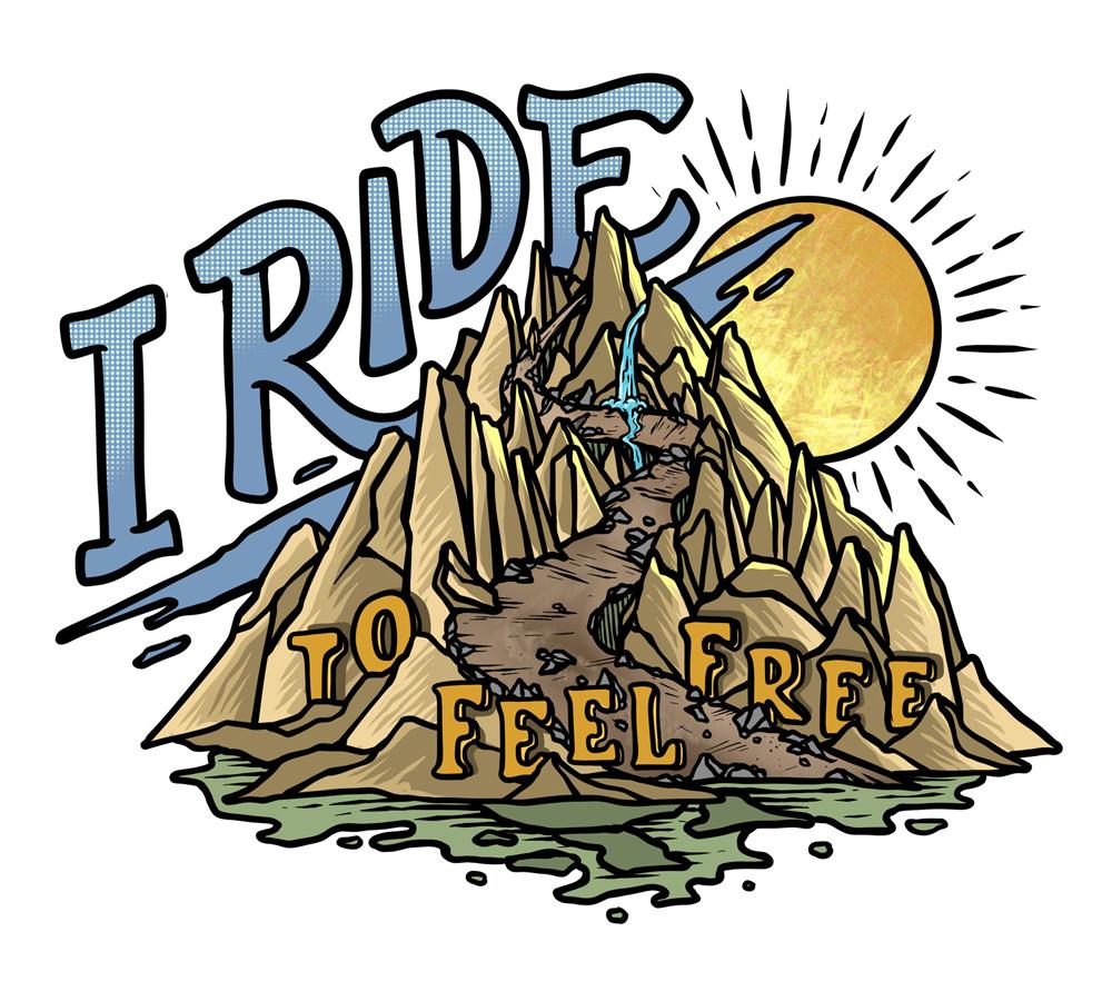 I Ride to Feel Free main design