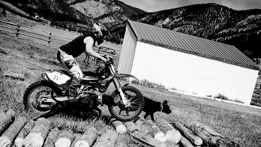 Rachel Bartzick riding her dirt bike for the Why I Ride Project